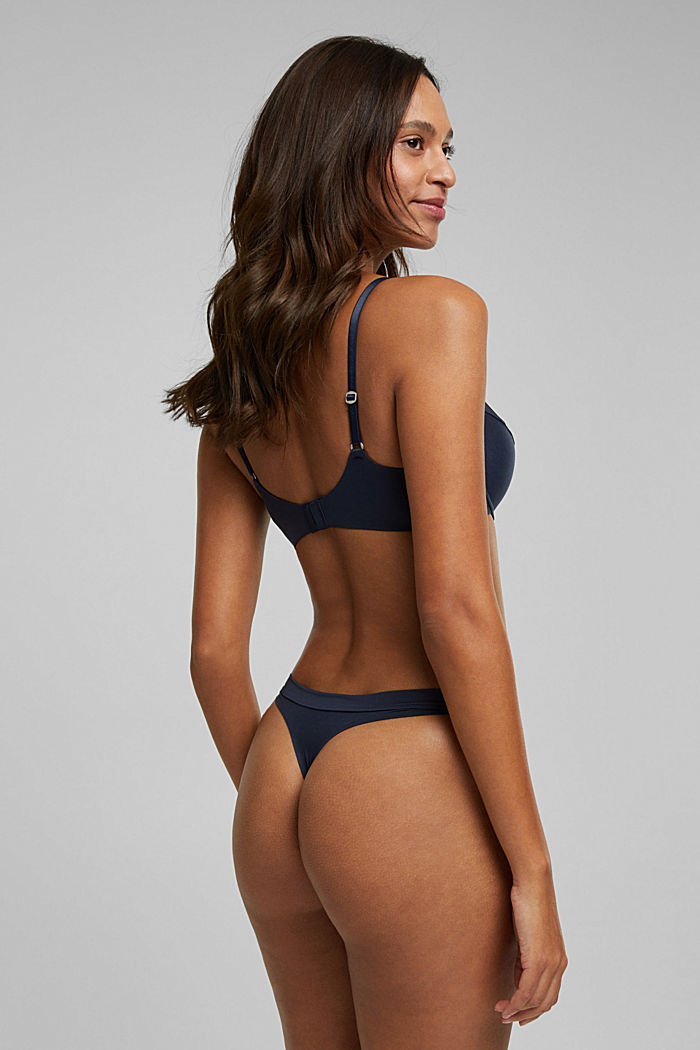 Soft, comfortable hipster thong, NAVY, detail image number 2