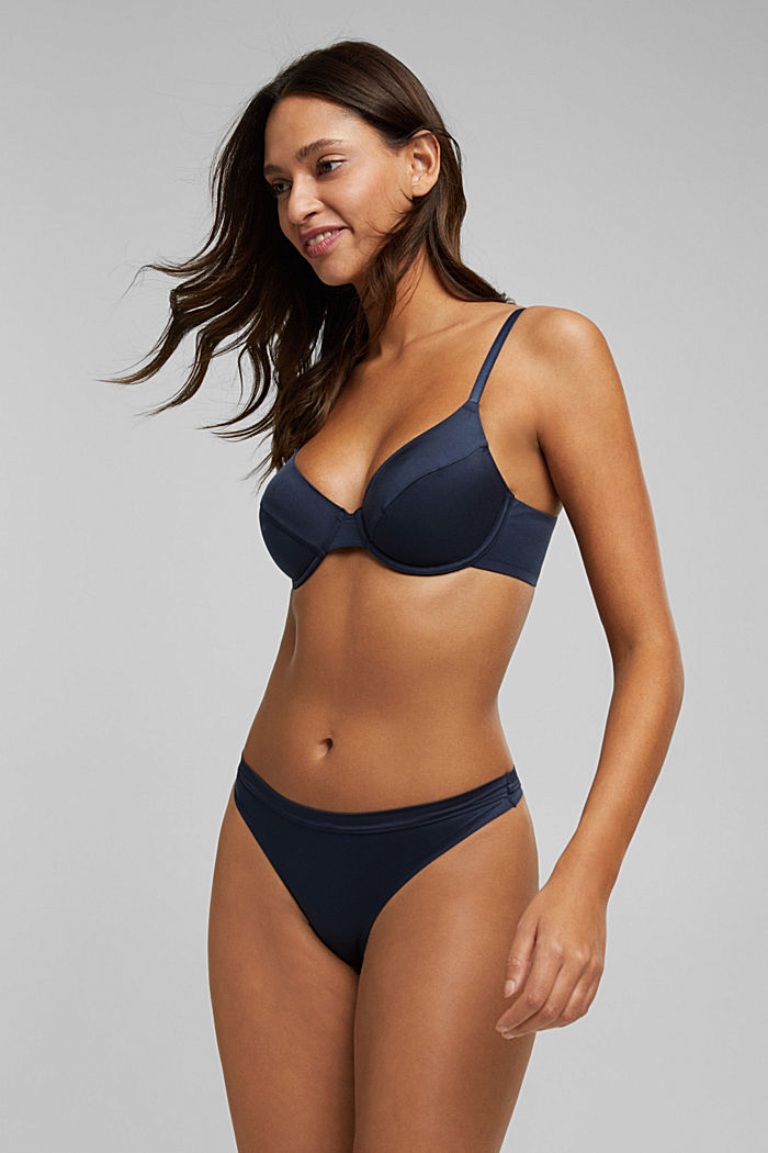 Soft, comfortable hipster thong, NAVY, detail image number 3