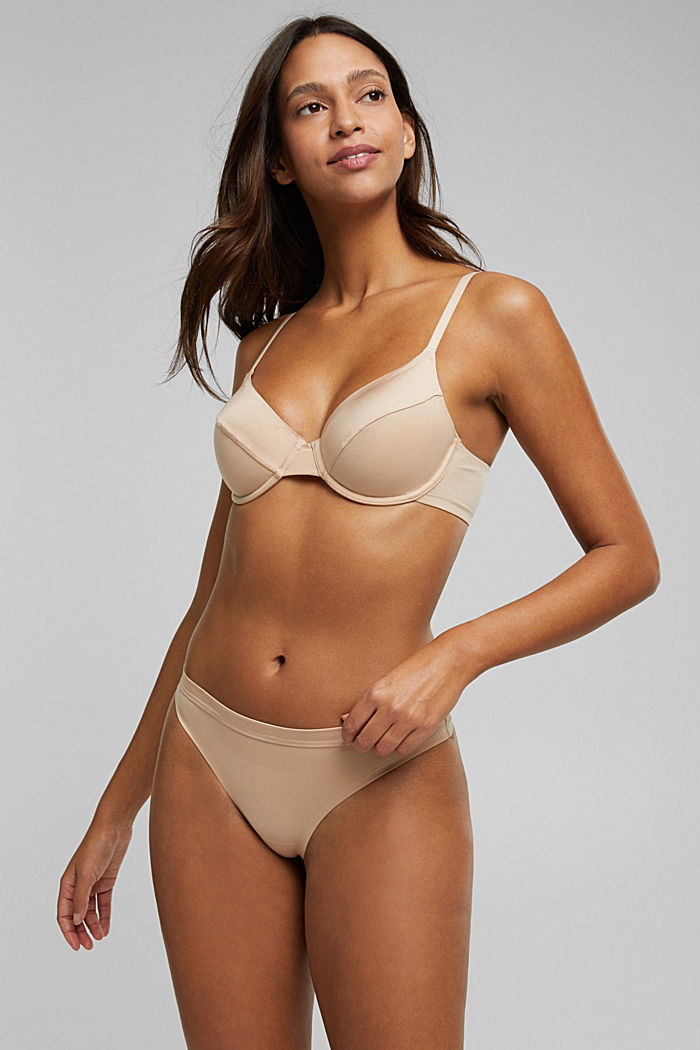 Soft, comfortable hipster thong, NUDE, overview