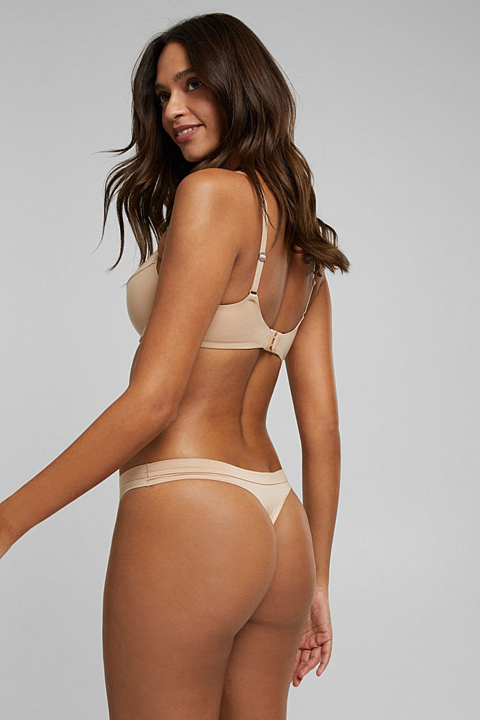 Soft, comfortable hipster thong, NUDE, detail image number 2