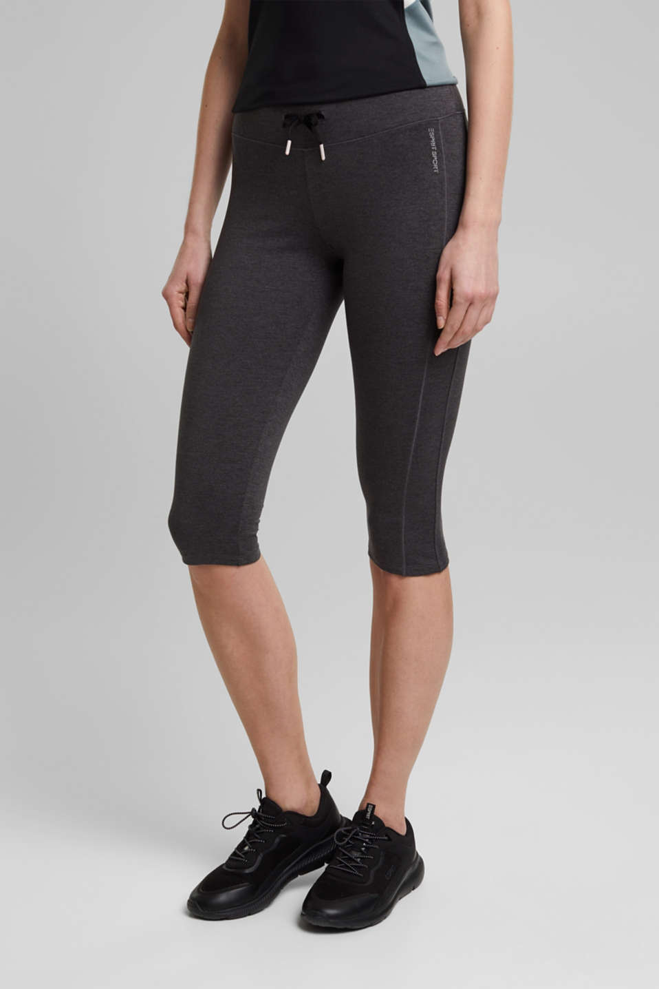 Esprit - Sportlegging in caprilengte, E-DRY