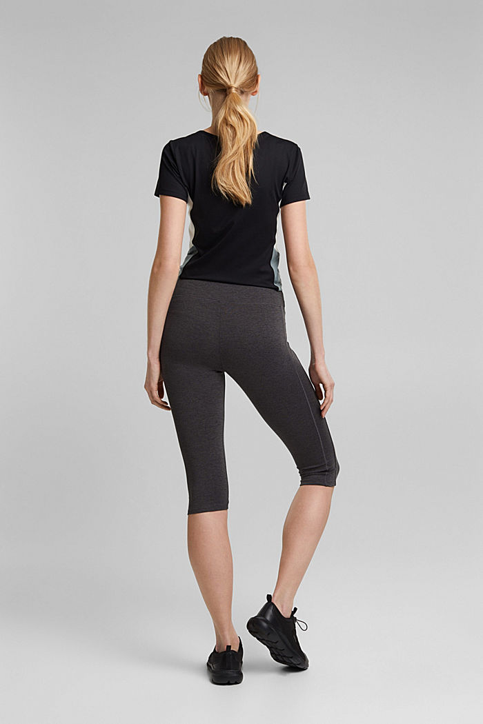 Active leggings in a capri length, E-DRY, ANTHRACITE, detail image number 3