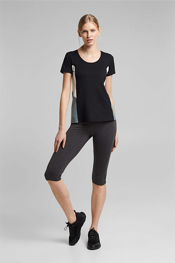 Active leggings in a capri length, E-DRY, ANTHRACITE, detail image number 5