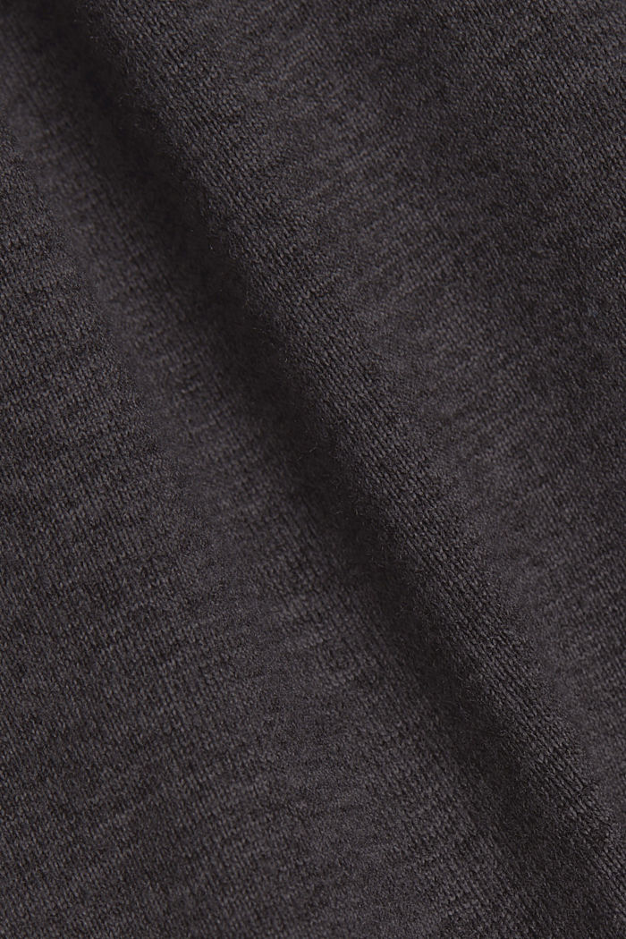 Pants knitted, ANTHRACITE, detail image number 4