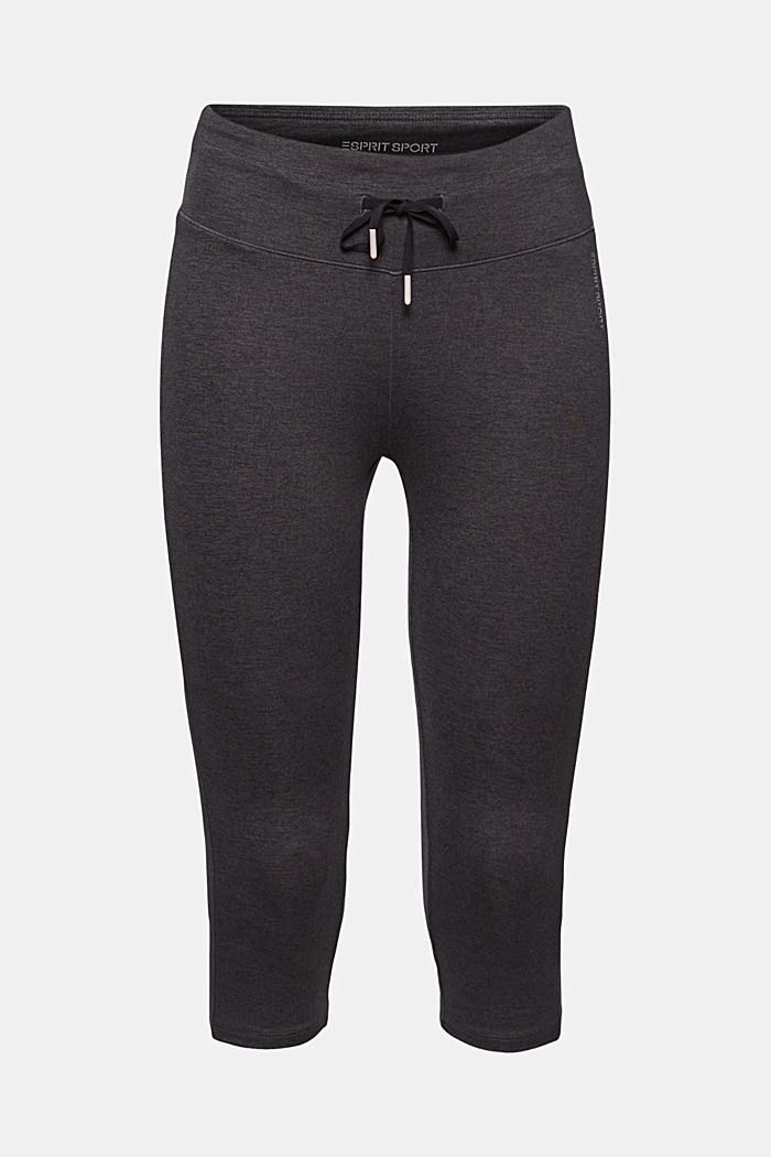 Active leggings in a capri length, E-DRY, ANTHRACITE, overview
