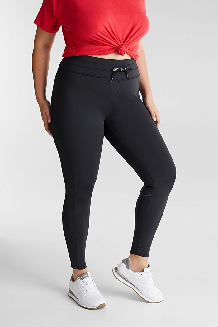 CURVY leggings with E-DRY, recycled, BLACK, overview