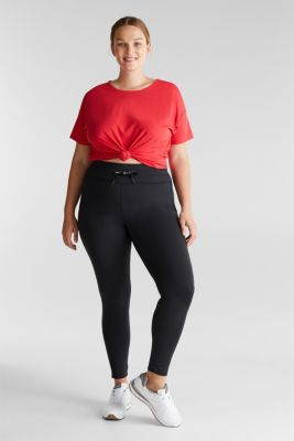 CURVY leggings with E-DRY, recycled, BLACK, detail