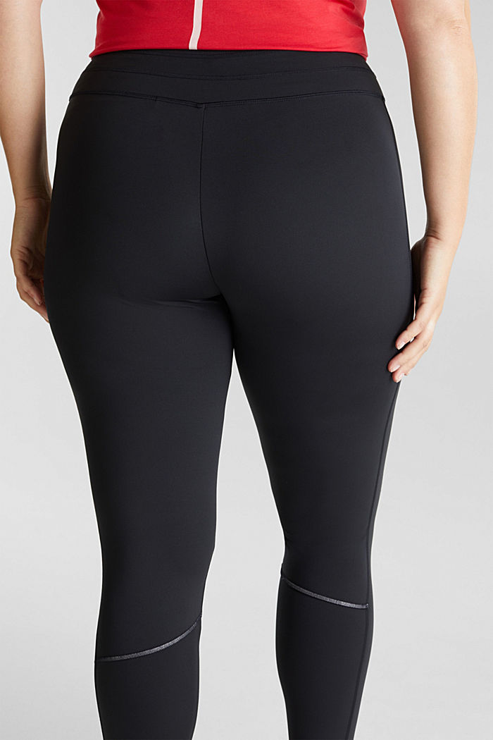 CURVY leggings with E-DRY, recycled, BLACK, detail image number 5