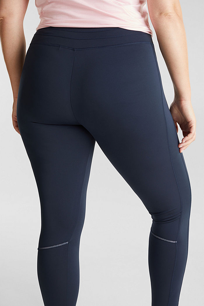 CURVY leggings with E-DRY, recycled, NAVY, detail image number 5