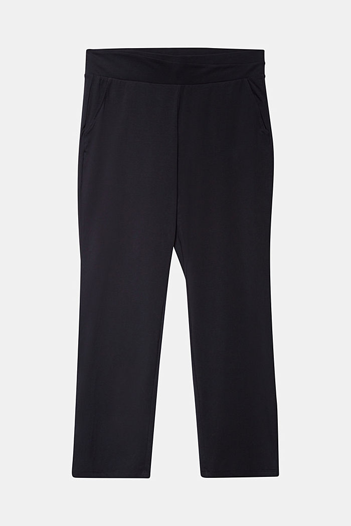 CURVY sports trousers with organic cotton, BLACK, detail image number 5