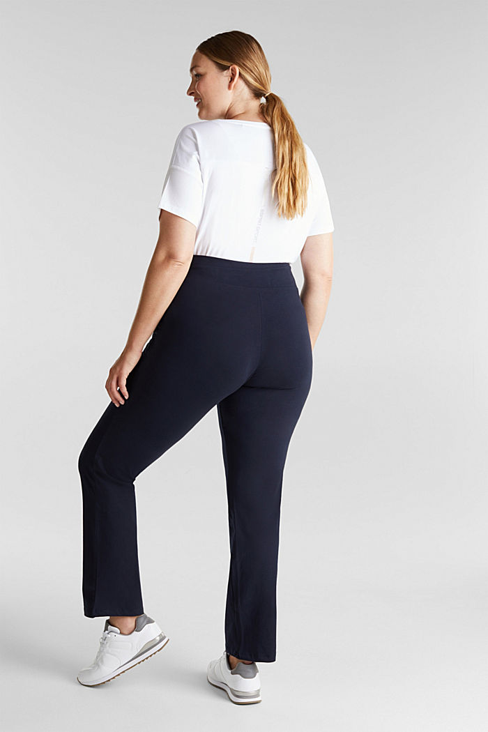 CURVY sports trousers with organic cotton, NAVY, detail image number 3