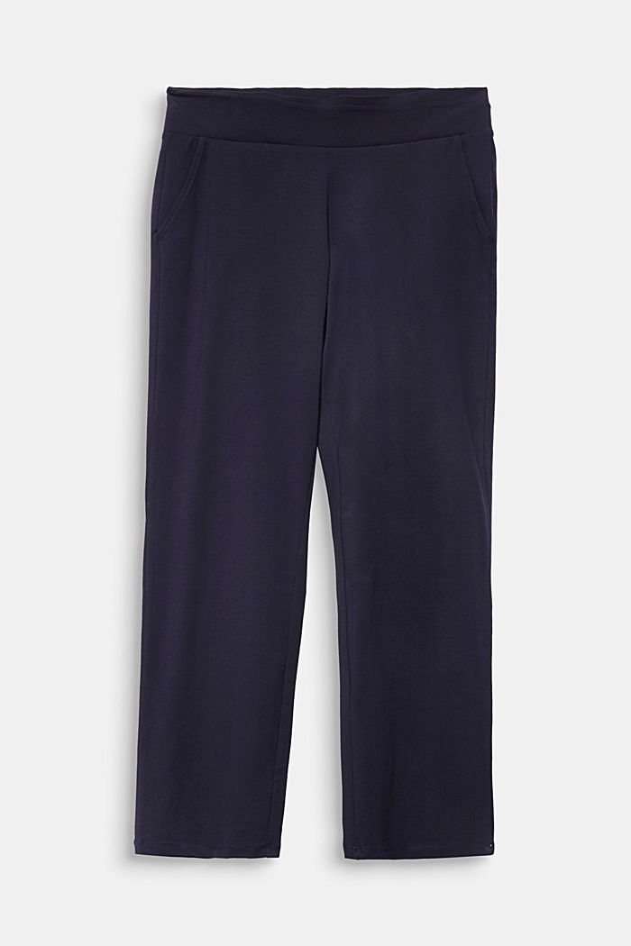 CURVY sports trousers with organic cotton, NAVY, detail image number 5
