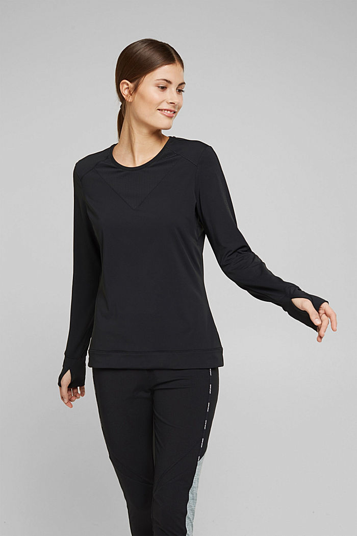 Active long sleeve top with edry