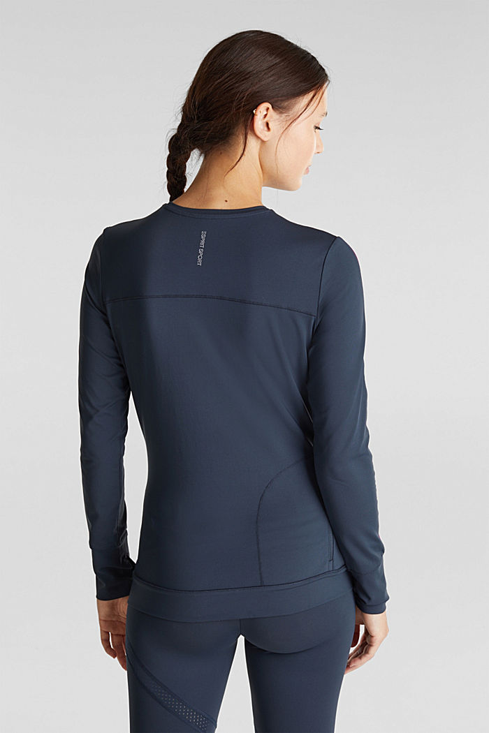 Active long sleeve top with edry, NAVY, detail image number 3