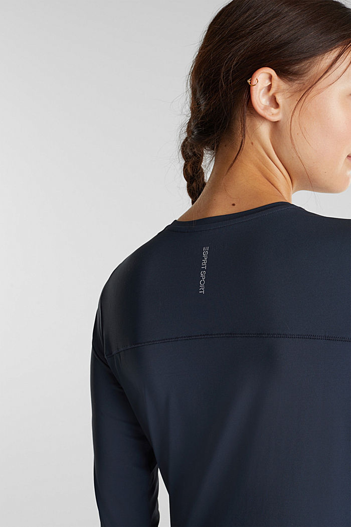 Active long sleeve top with edry, NAVY, detail image number 2