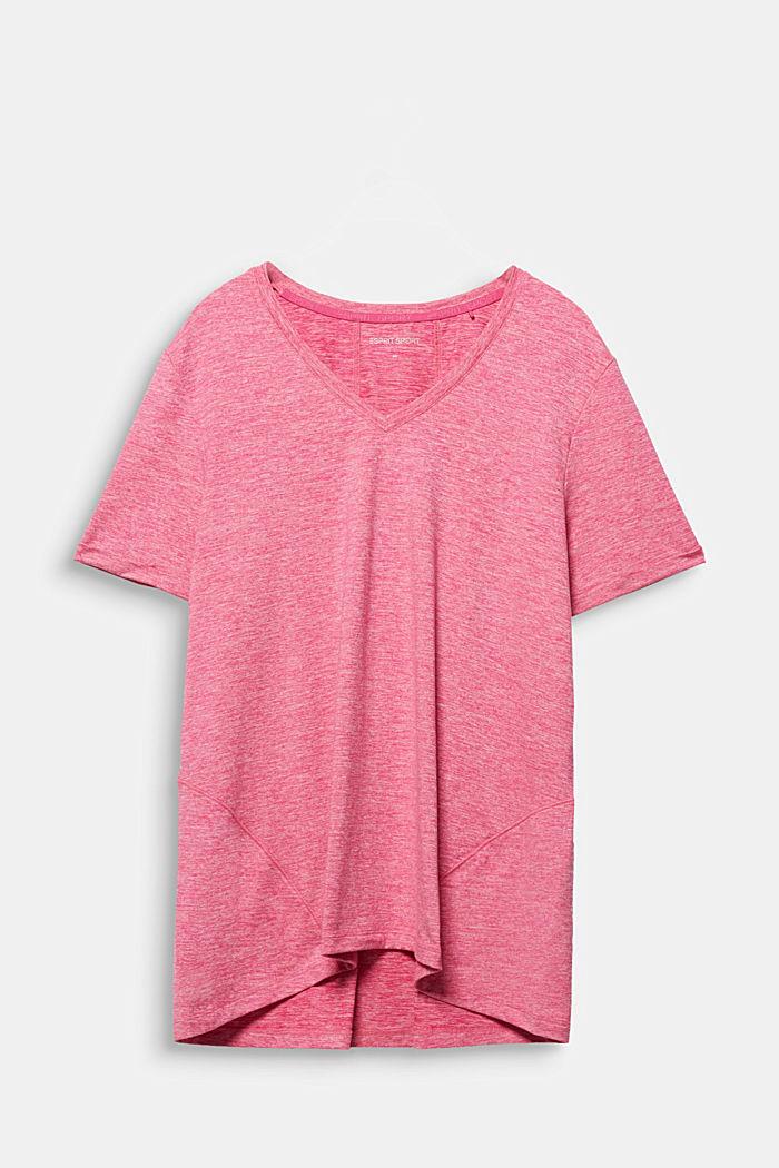 CURVY Melange-Shirt, E-DRY