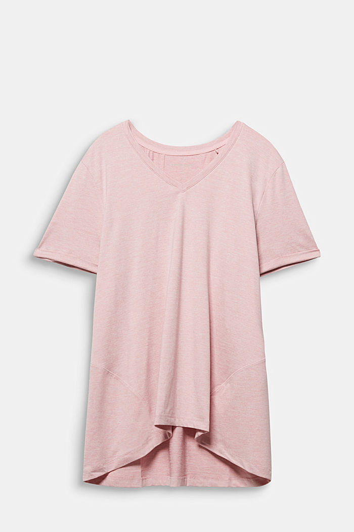 Curvy melange E-DRY top, LIGHT PINK, overview