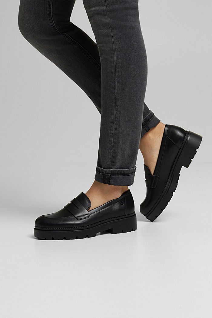 Loafer in Leder-Optik