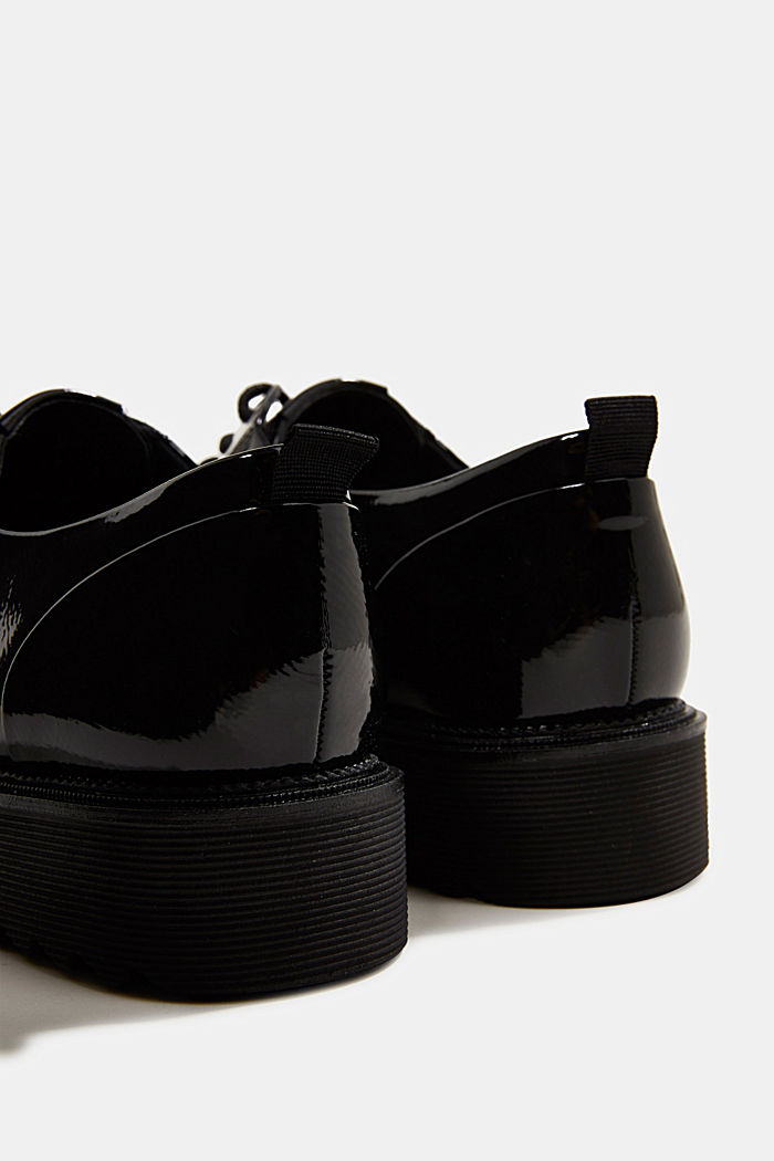 Patent lace-up shoes, BLACK, detail image number 5