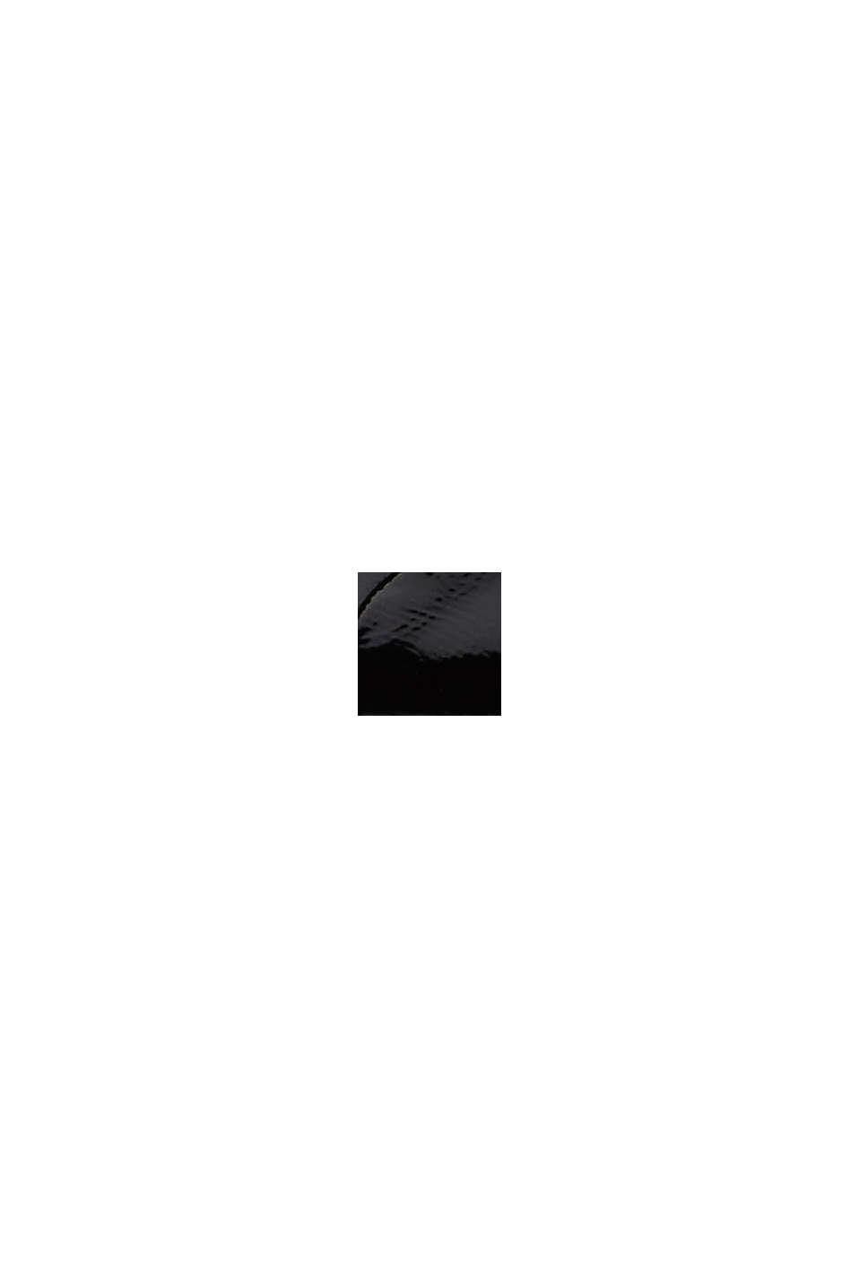 Snörskor i lack, BLACK, swatch