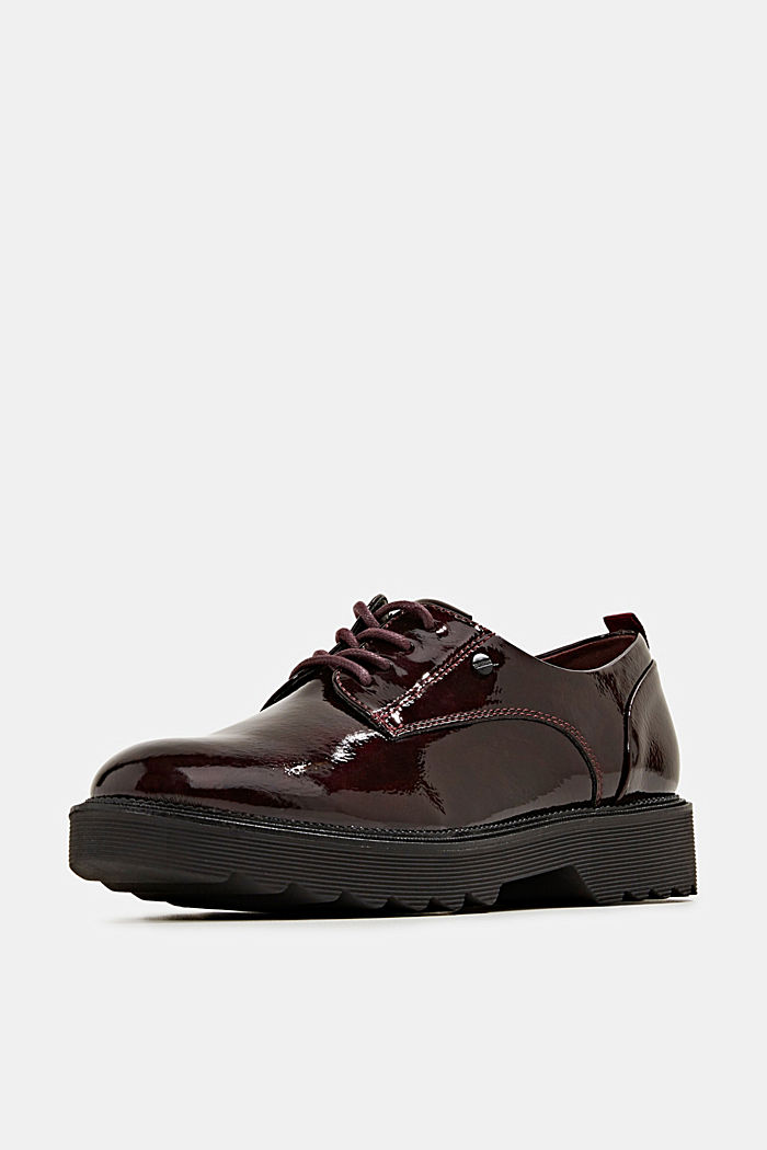 Patent lace-up shoes, BORDEAUX RED, detail image number 2