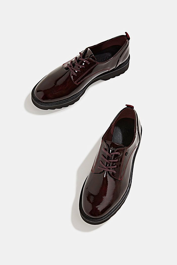 Patent lace-up shoes, BORDEAUX RED, detail image number 6