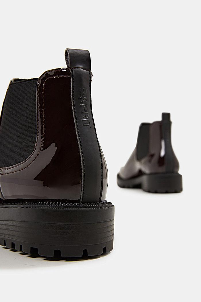 Chelsea-Boots aus Lack, BORDEAUX RED, detail image number 5
