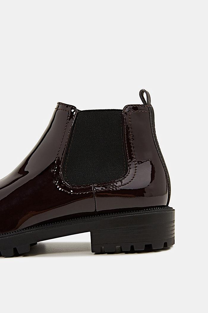 Chelsea-Boots aus Lack, BORDEAUX RED, detail image number 4