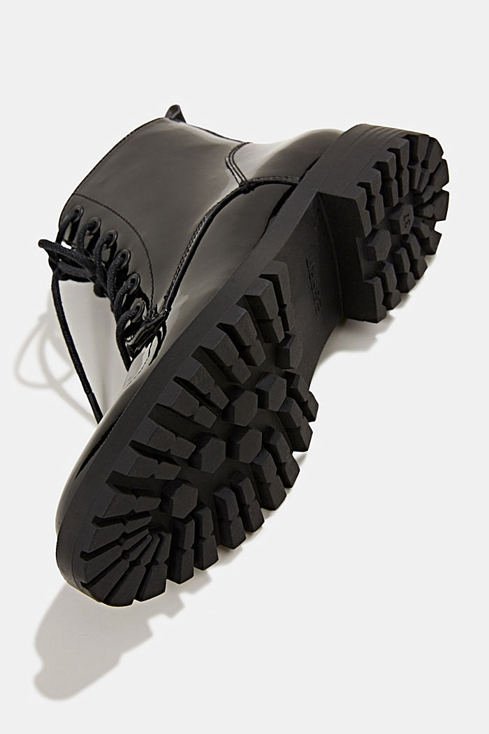 Patent lace-up boots, BLACK, detail image number 6