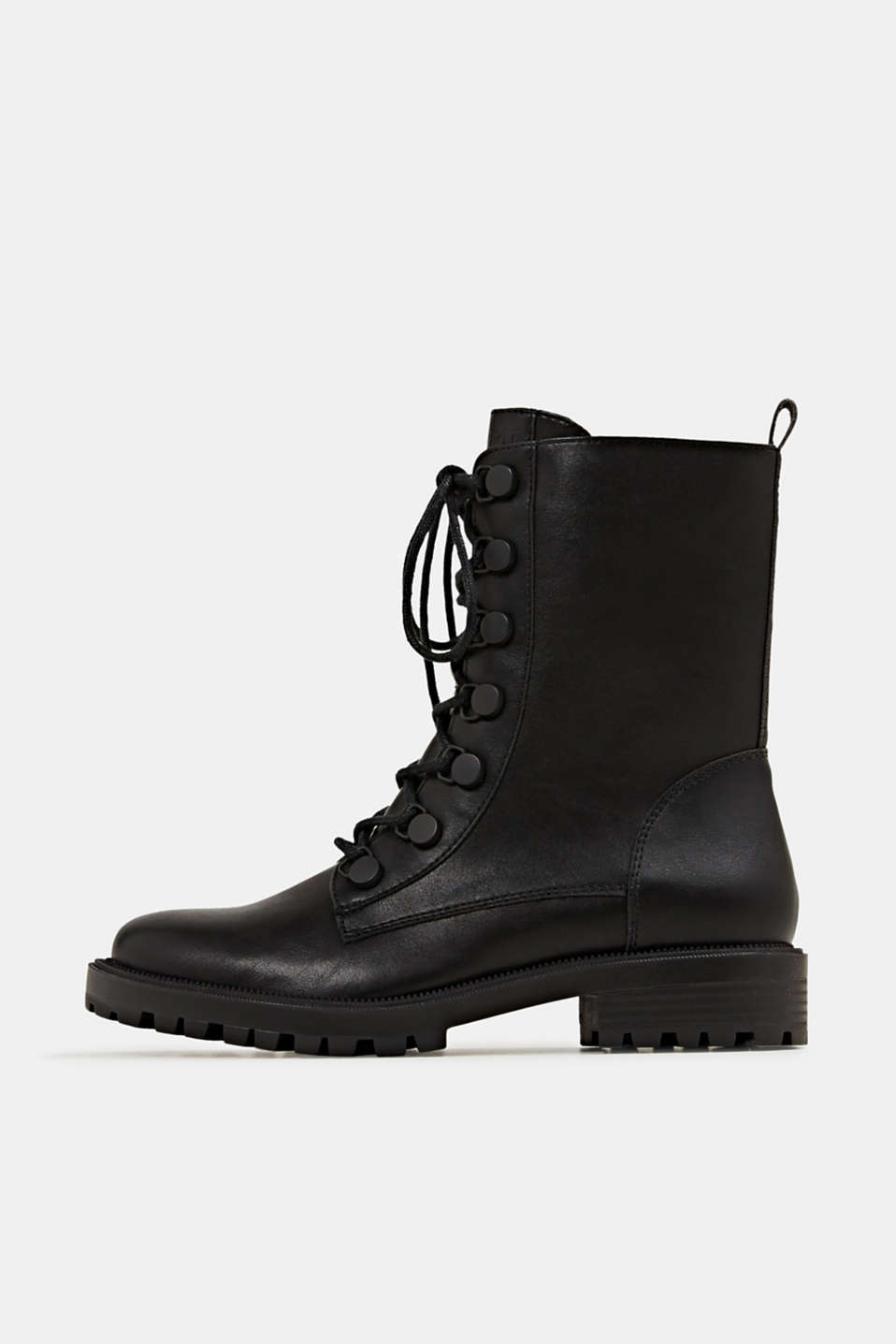 Esprit - Veterboots in leerlook