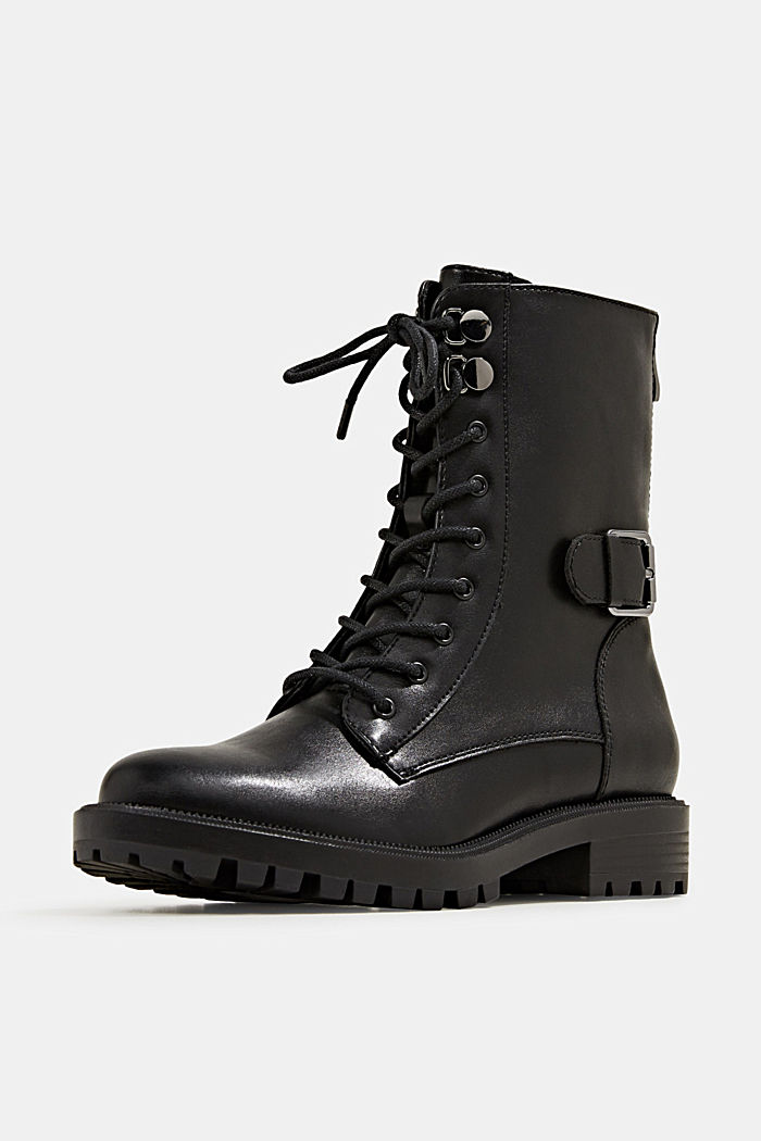 Veterboots in leerlook, BLACK, detail image number 2