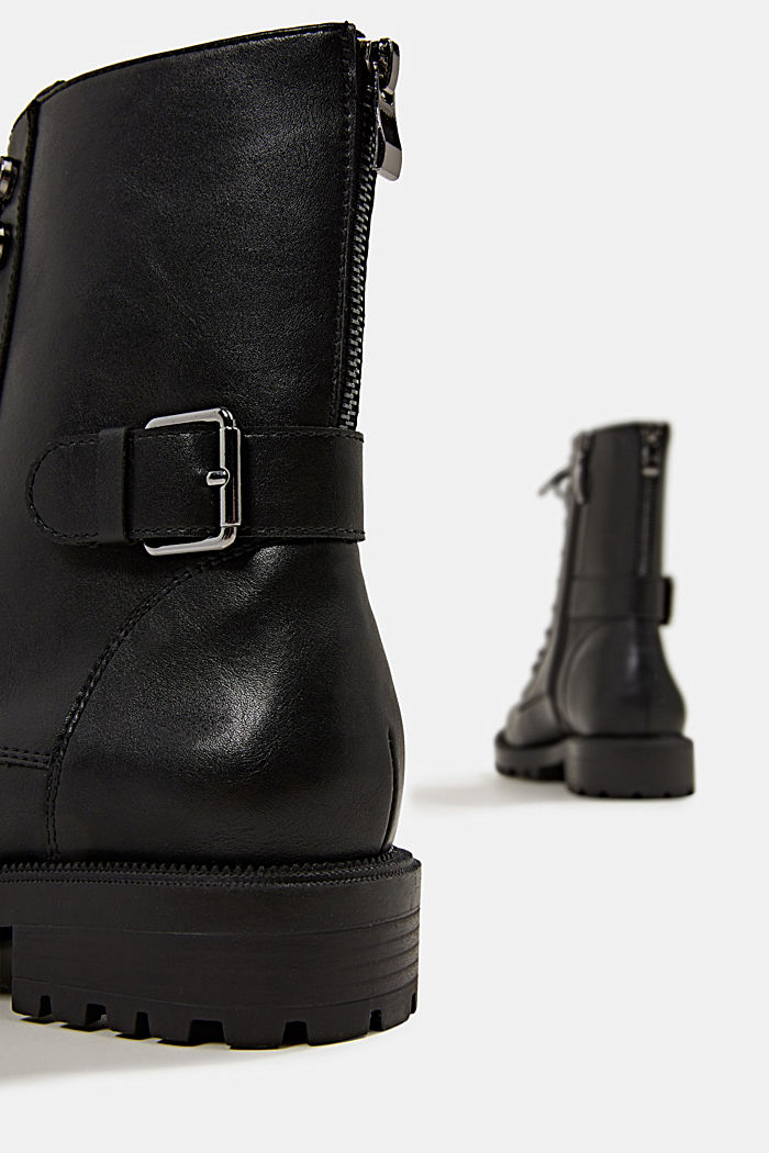 Veterboots in leerlook, BLACK, detail image number 5