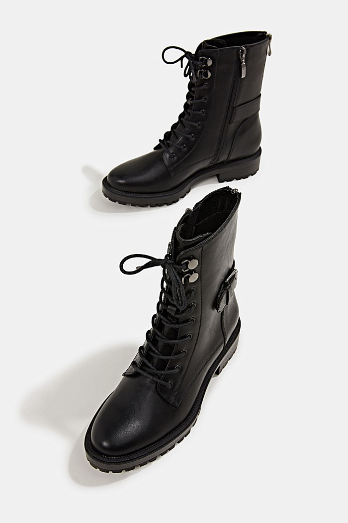 Veterboots in leerlook, BLACK, detail image number 7
