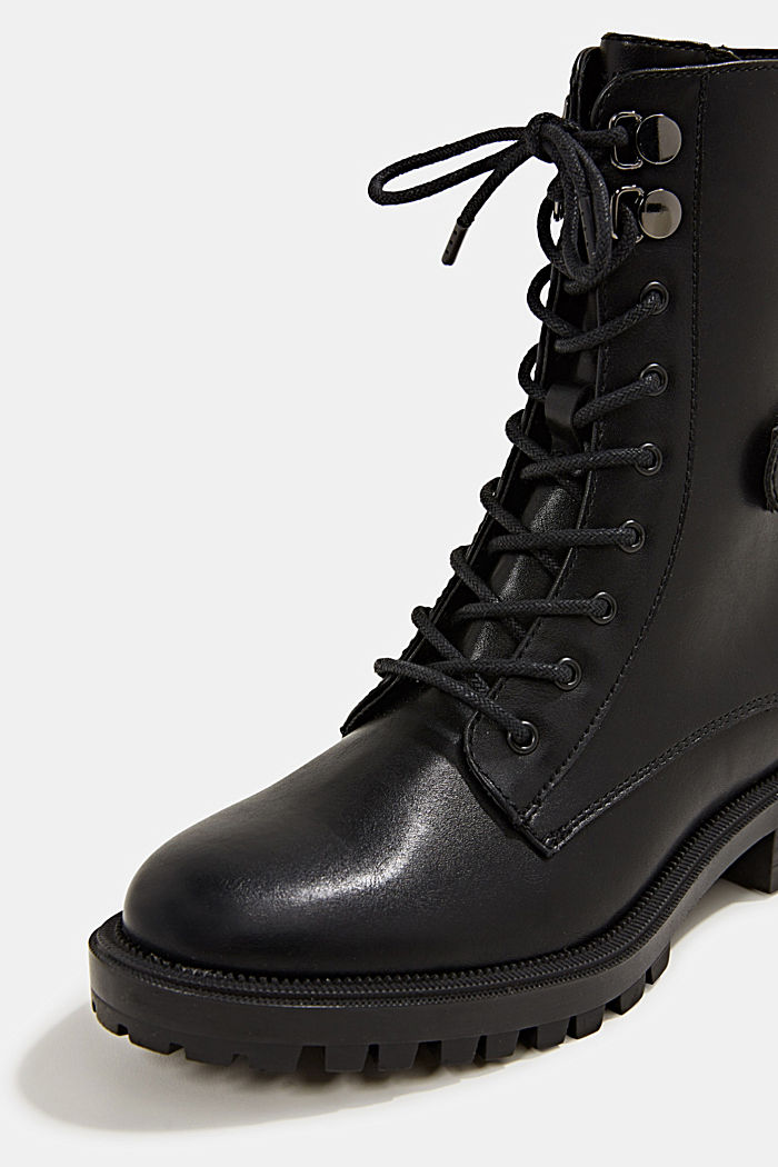 Veterboots in leerlook, BLACK, detail image number 4