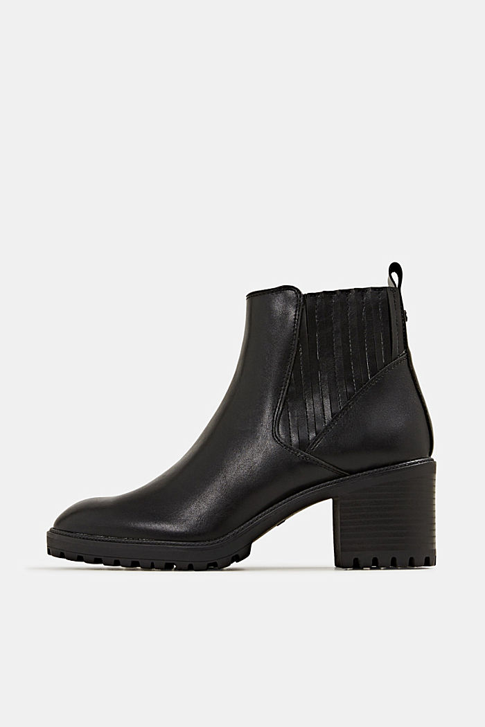 Bootie in Leder-Optik