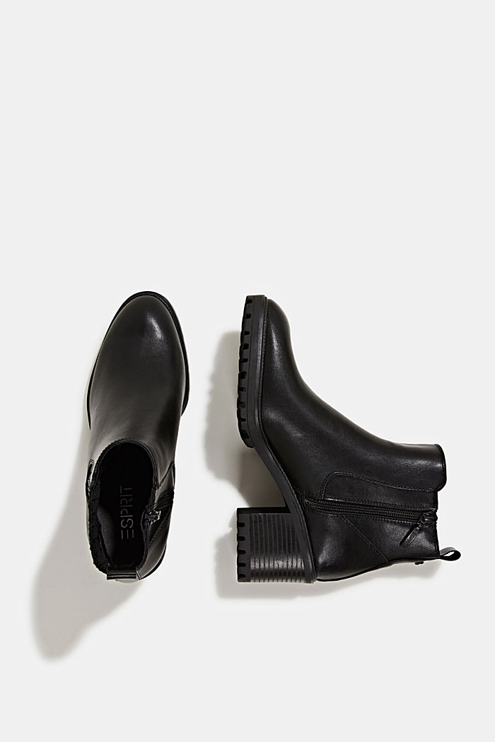 Faux leather ankle boots, BLACK, detail image number 1