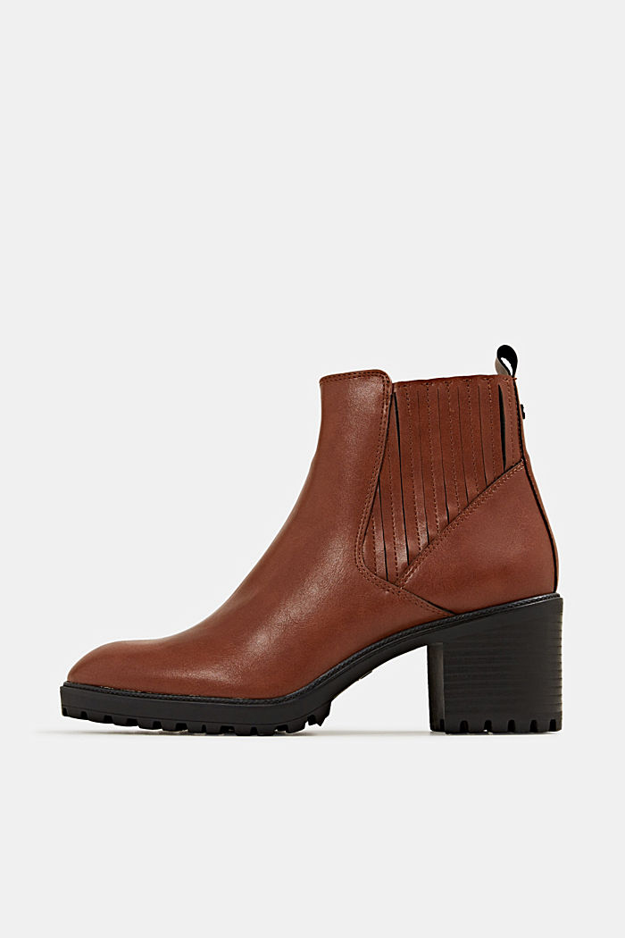 Booties in leerlook