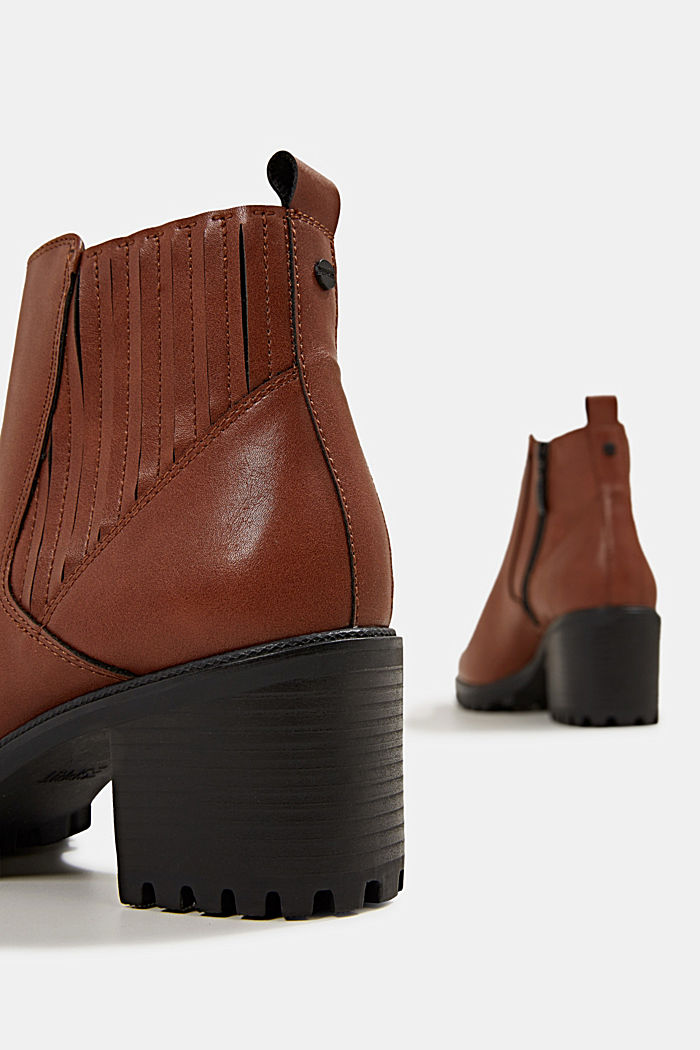 Faux leather ankle boots, TOFFEE, detail image number 5