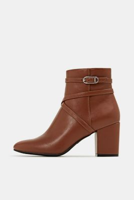 Faux leather ankle boots, TOFFEE, detail
