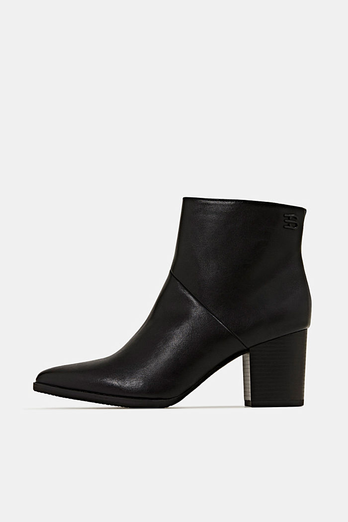 Faux leather ankle boots, BLACK, detail image number 0