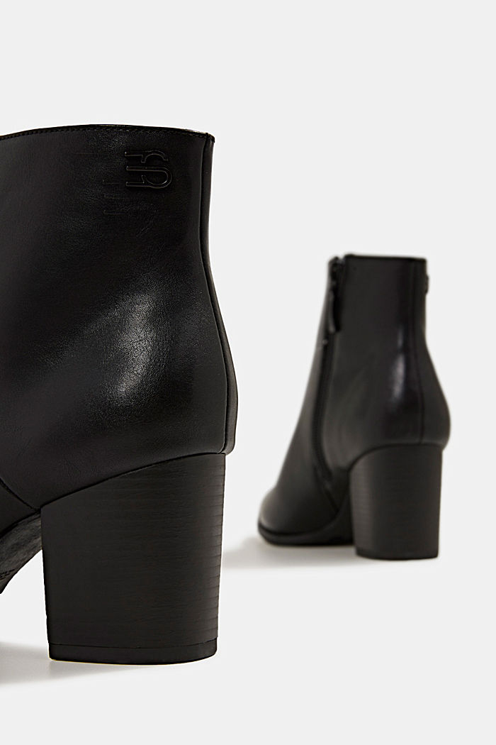 Faux leather ankle boots, BLACK, detail image number 5