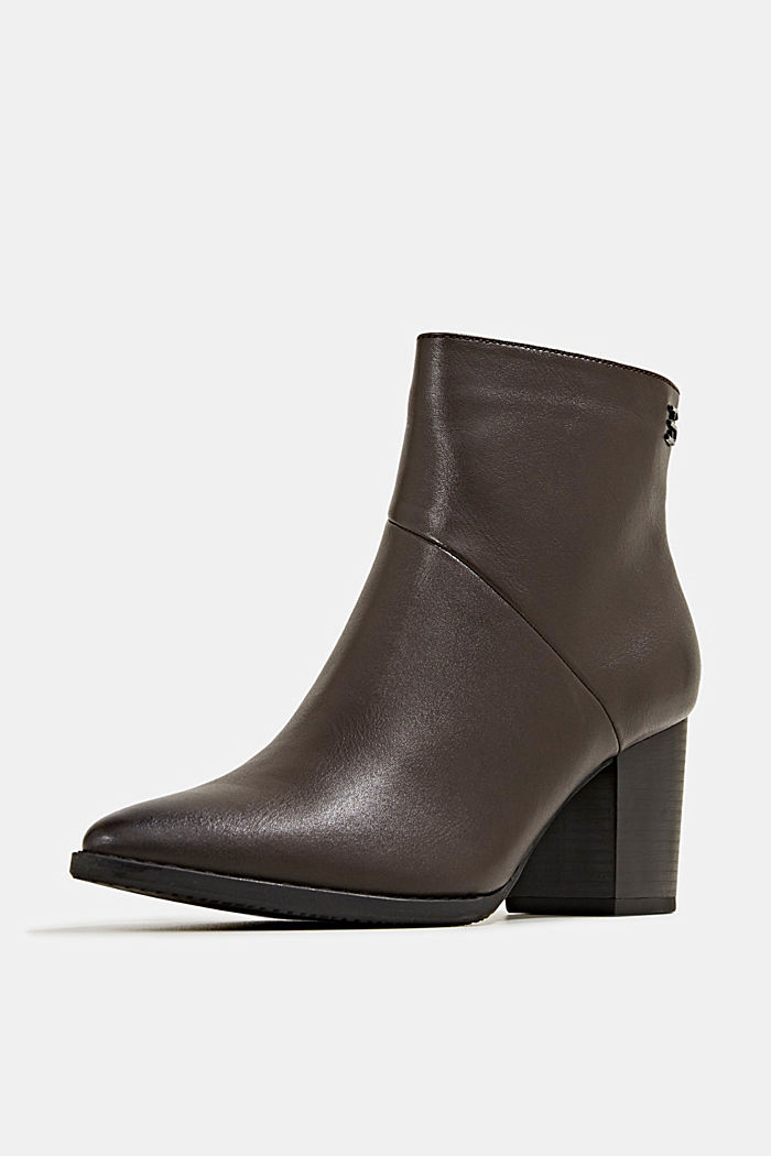 Faux leather ankle boots, DARK BROWN, detail image number 2