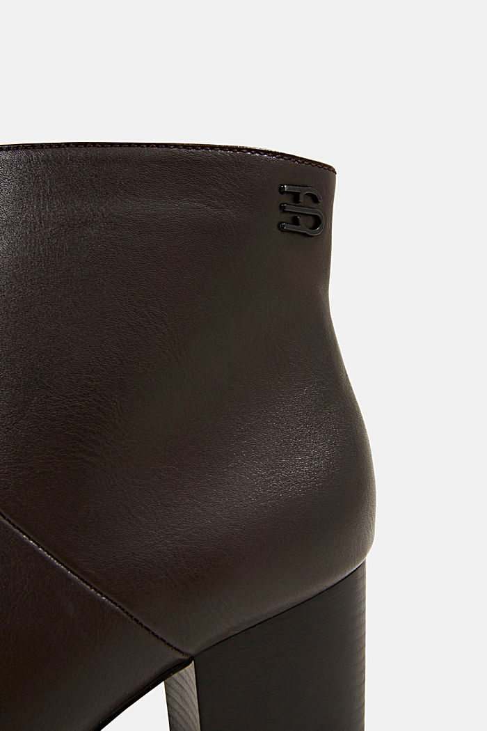 Faux leather ankle boots, DARK BROWN, detail image number 4