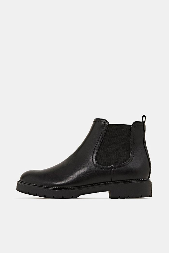 Chelsea Boot in Leder-Optik, BLACK, detail image number 0