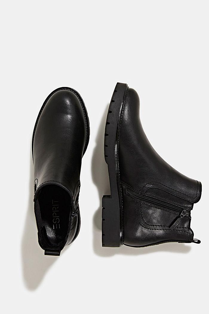 Chelsea Boot in Leder-Optik, BLACK, detail image number 1