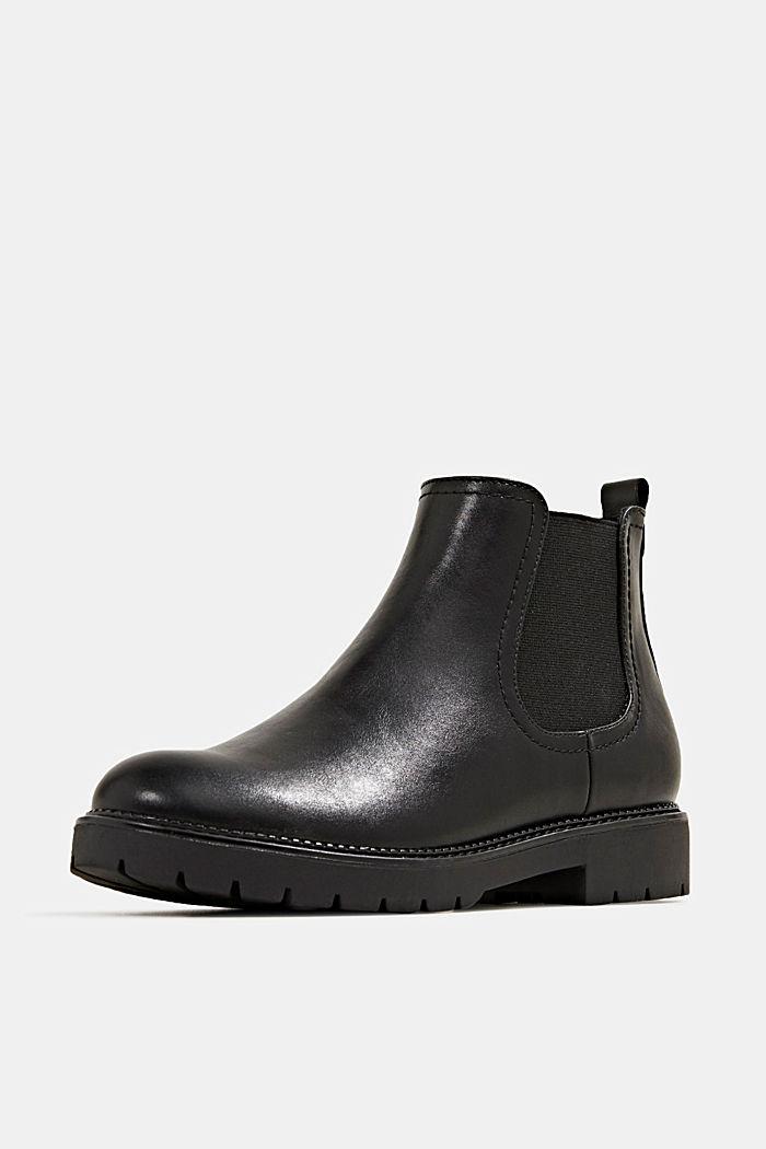Chelsea Boot in Leder-Optik, BLACK, detail image number 2