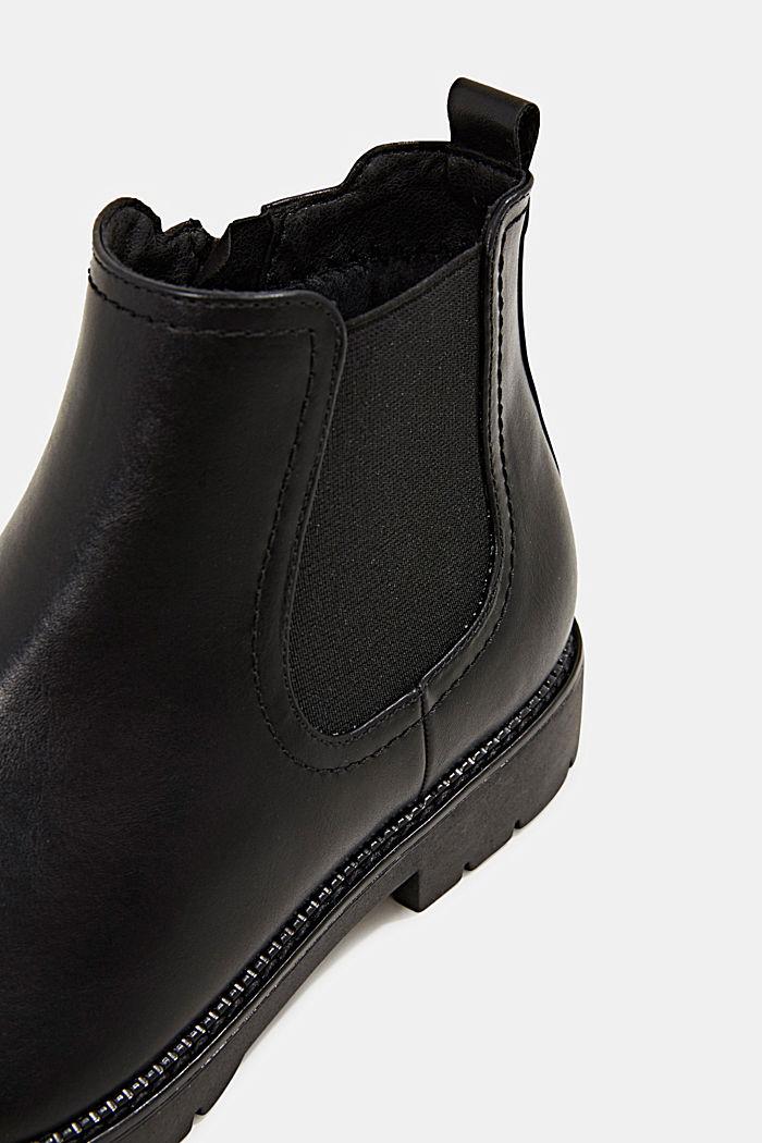 Chelsea Boot in Leder-Optik, BLACK, detail image number 5