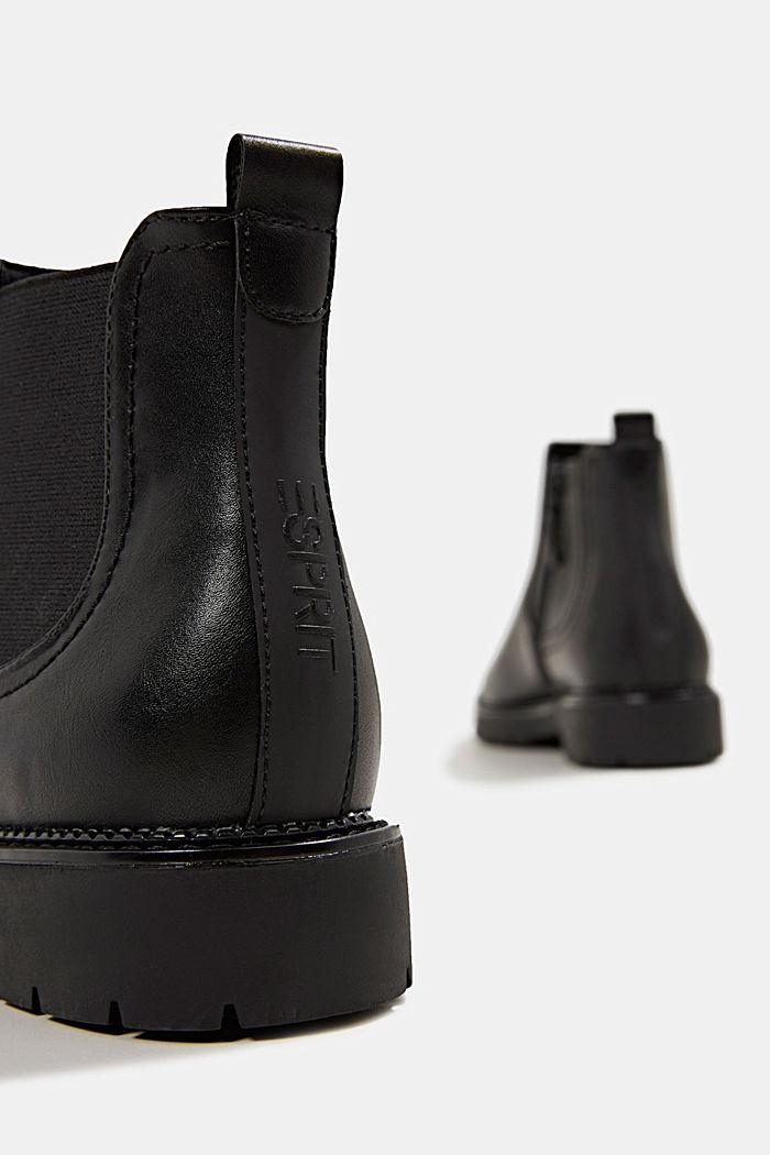 Chelsea Boot in Leder-Optik, BLACK, detail image number 4