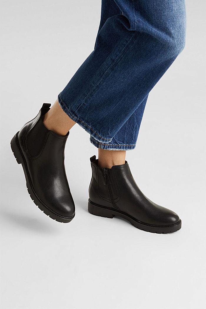Chelsea Boot in Leder-Optik, BLACK, detail image number 3