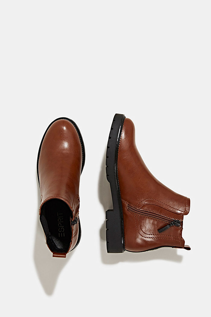 Chelsea boots in faux leather, TOFFEE, detail image number 1